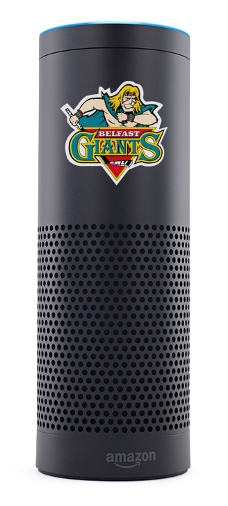 Amazon Alexa with the Belfast Giants Logo