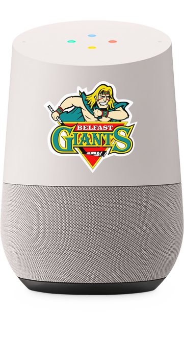 Google Home with the Belfast Giants Logo